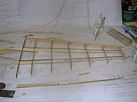 Name: DSCN4372.jpg Views: 229 Size: 190.6 KB Description: Add the leading edge and we are done on this side!!  Note elevator spar doubler S4 glued to elevator spar S3.