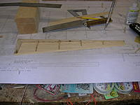 Name: DSCN4379.jpg Views: 207 Size: 212.4 KB Description: ER2A and ER2B glued in place and top side of elevator sanded smooth. Note extra blocking at LE towards tip for hinges.
