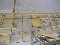 "Name: DSCN4428.jpg Views: 182 Size: 196.0 KB Description: 3/32"" sq basswood upper wing stringers added."