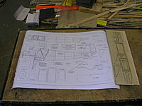 """Name: DSCN5085.JPG Views: 113 Size: 680.0 KB Description: Stuff from Manzano Laser.  2 sheets of plans, 3 sheets of parts.   Two are 1/16"""" balsa, one is 1/32"""" ply."""