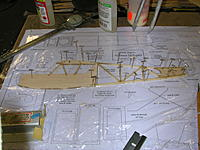 Name: DSCN5094.JPG Views: 63 Size: 652.8 KB Description: Left fuselage side framed up on top of right side.  Note plastic wrap to keep the two sides from sticking to each other.