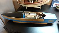 Name: IMG_20160508_123303183.jpg Views: 37 Size: 325.8 KB Description: Here is my cardboard copy complete with SEL marine engine,a Mamod boiler from a locomotive with a soup can shroud and the front shroud made from the side of a gallon plastic anti-freeze jug.  my first Midwest fantail launch is in the background.