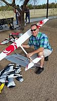 Name: 20170214_093024-1.jpg Views: 3 Size: 45.0 KB Description: Michael shows off his new glider