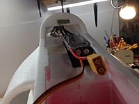 Name: IMG_4018.JPG Views: 33 Size: 393.6 KB Description: I used a sticky zip tie standoff and zip tied the ESC wires up so the wont rub on the elevator pushrods.