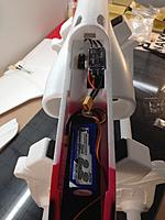 Name: IMG_4019.JPG Views: 38 Size: 342.4 KB Description: Power system layout. See the Tactic TS-10 Digital servo? Perfect fit!