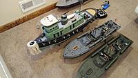 Name: Captain 043.jpg Views: 9 Size: 1.26 MB Description: Tug Jersey City with custom Bow Fender I made 2 more PT boats, one is the 116