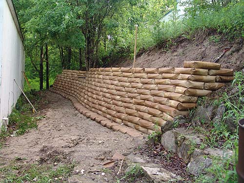 Retaining Wall Design Paper : Concrete bags for retaining walls home design idea