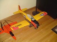Name: DSC01261.jpg Views: 263 Size: 59.7 KB Description: my heavily modded t-28,  400 watts, 3 blade prop, scale struts
