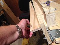 Name: IMG_3825.jpg Views: 15 Size: 1.37 MB Description: The bending plank raised to the folded position.