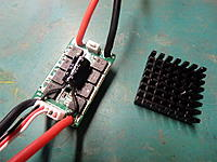 Name: P9150001.JPG Views: 7 Size: 603.6 KB Description: drilled off the heat sink and removed cover-less then 5 amp and will reside in water..should handle it.