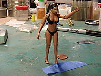 Name: thumb-P8100026.jpg Views: 30 Size: 8.8 KB Description: The bikini is simple paper towel that was lightly painted (to prevent white spots that cannot be painted later) and paper mache'd on with Elmer's clear glue and painted again.