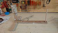 Name: 20190319_091326.jpg Views: 179 Size: 183.1 KB Description: OMG,  What is this!!!!  Well, this is the jig to rotate the boat and paint the complete hull.