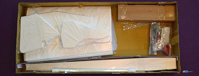 <b>Major parts were individually wrapped and securely taped in place.</b>