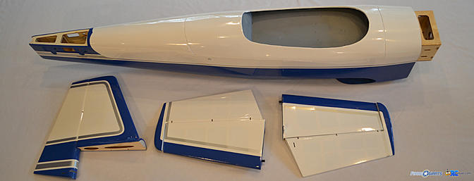 <b>Fuselage and tail feathers</b>