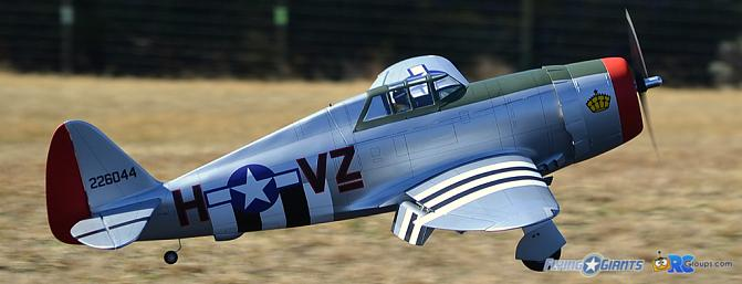Horizon Hobby Hangar 9  P-47D Thunderbolt 20cc Review