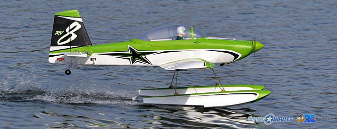 Flex Innovations RV-8 NIGHT SUPER PNP on Floats Review