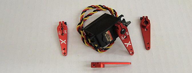 <b>Extreme Flight light weight servo arms</b>