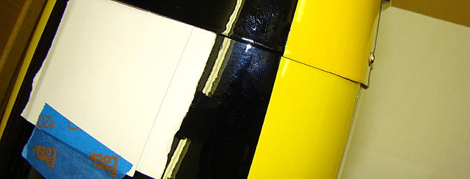 <b>Card stock spacers for cowling clearance</b>