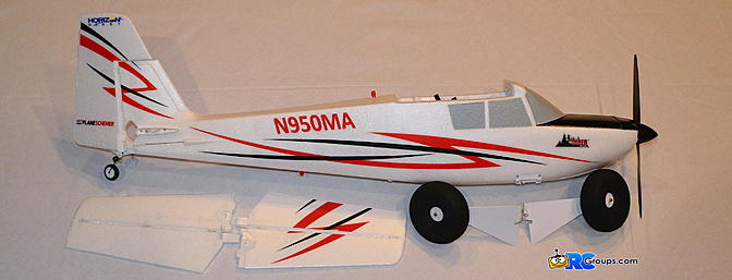 <b>Fuselage, wheels, and horizontal stab</b>