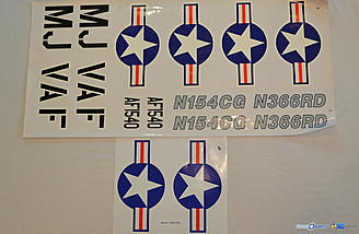 <b>Decals for three trim schemes</b>