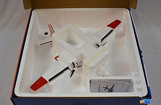 <b>Plane was safely secured by molded foam inserts.</b>
