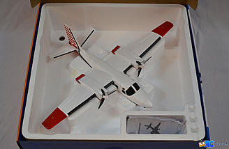 <b>Plane was fully assembled. Box was reusable for transport and storage.</b>