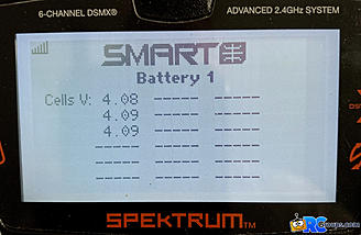 <b>Smart Battery cell voltages</b>