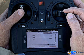 <b>Volts, RPM, and Temp Telemetry Display</b>