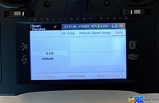 <b>Altitude & Vario Display with Altitude Graphic</b>