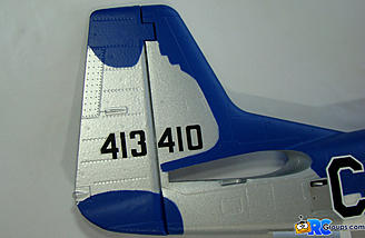 <b>Rudder details including trim tab control fairing</b>