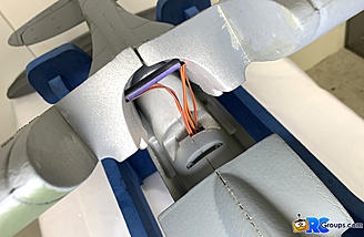 <b>Servo leads routed into fuselage</b>