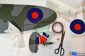 <b>Wing and rudder decals</b>