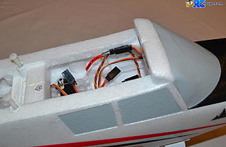 <b>Bind plug extension in place on the fuselage side</b>