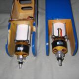 Completed motors & mounts.