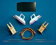 Fiberglass floats, motor mounts and hardware