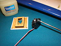Coat servo top and output with Vaseline.