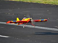 Three-point landing stance