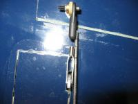 Name: IMG_1247.jpg Views: 138 Size: 75.6 KB Description: Tape ailerons level with wing and mark threaded rod to cut off.  Purchased a totally threaded rod seperately.