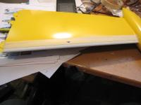 Name: IMG_1513.jpg Views: 130 Size: 51.8 KB Description: Taping off the yellow to put on Aluminum paint used on gauges.