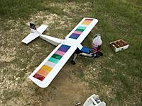 RCG purchase, ST .61.  Flew well.  Colorful.  An LGBT member from San Francisco might buy it?   It was cheap, didn't think anything of it at the time until I brought it to the field.  Now I got to strip all that crap off....
