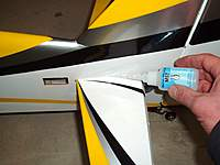 Name: RUDDER SERVO - ELEVATOR 015.jpg Views: 256 Size: 61.9 KB Description: Use thin CA along all joints top and bottom to secure stab in place.