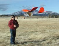 Name: BEAGLE66.jpg Views: 1091 Size: 85.3 KB Description: Flying the EPP Beagle (#1) over hay meadows 1-2-06; Silverheels Mtn. in the background