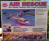 New in sealed box Vintage Cox Air Rescue Helicopter #4300