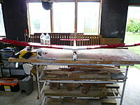 Name: 5BF1D5D3-01D2-445E-AE87-D39C917D522F.jpeg Views: 101 Size: 164.1 KB Description: Sand back the foam fitted to the wing saddles to get the wing sitting nice and level.