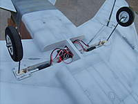 """Name: SD532314.jpg Views: 503 Size: 94.0 KB Description: New 1/8"""" gear legs, not pretty but they work great. I may do something different after the test flights."""