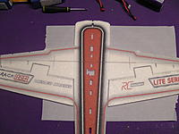 Name: M1380037.jpg Views: 619 Size: 211.7 KB Description: Test fit the wings together and make sure everything lines up.  We will do this assembly upside-down.