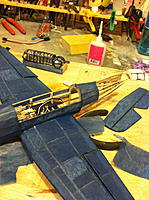 Name: IMG_0707.jpg Views: 243 Size: 171.8 KB Description: Hardest parts are going into the Vertical stabilizer and where the control rods come through the Fuse.