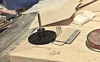 Name: IMG_2442.jpg Views: 111 Size: 189.5 KB Description: Stacked two Dremel wheels makes for perfect Stringer slot.