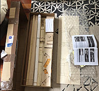Name: IMG_2410.jpg Views: 61 Size: 1.70 MB Description: Box opened on the lounge floor and happily looking at all the bits. there is a lot going on in this kit.