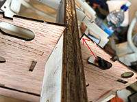 Name: frame 7 in keel slot.jpg Views: 58 Size: 124.8 KB Description: As you can see if you push the keel all the way into the slot on the frame you get a pretty obviously silly result